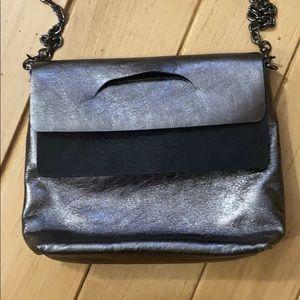 Daniella Lehavi Metallic Bag with Chain Link Strap